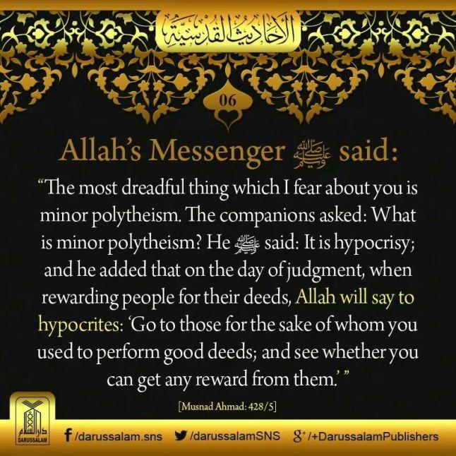 quran-islam-against-polytheism-shirk-kufr-hypocrisy-ostentation-hadith